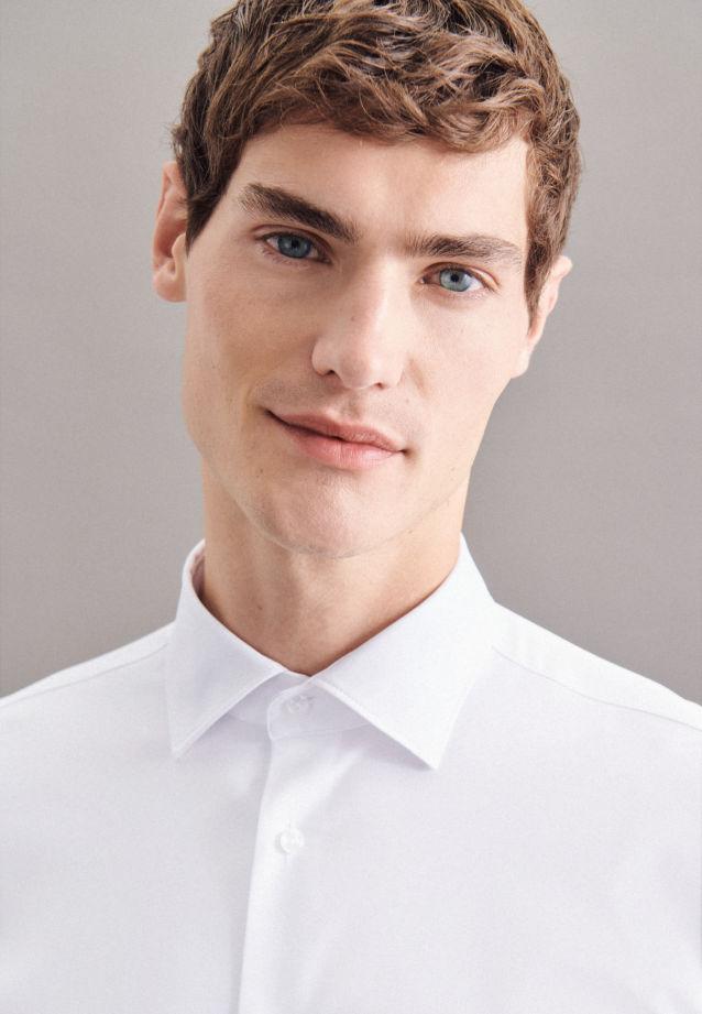 Seidensticker Performancehemd Twill in Weiß |  Jacques Britt Onlineshop