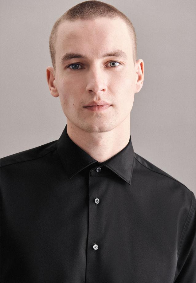Seidensticker Performancehemd Twill in Schwarz |  Jacques Britt Onlineshop