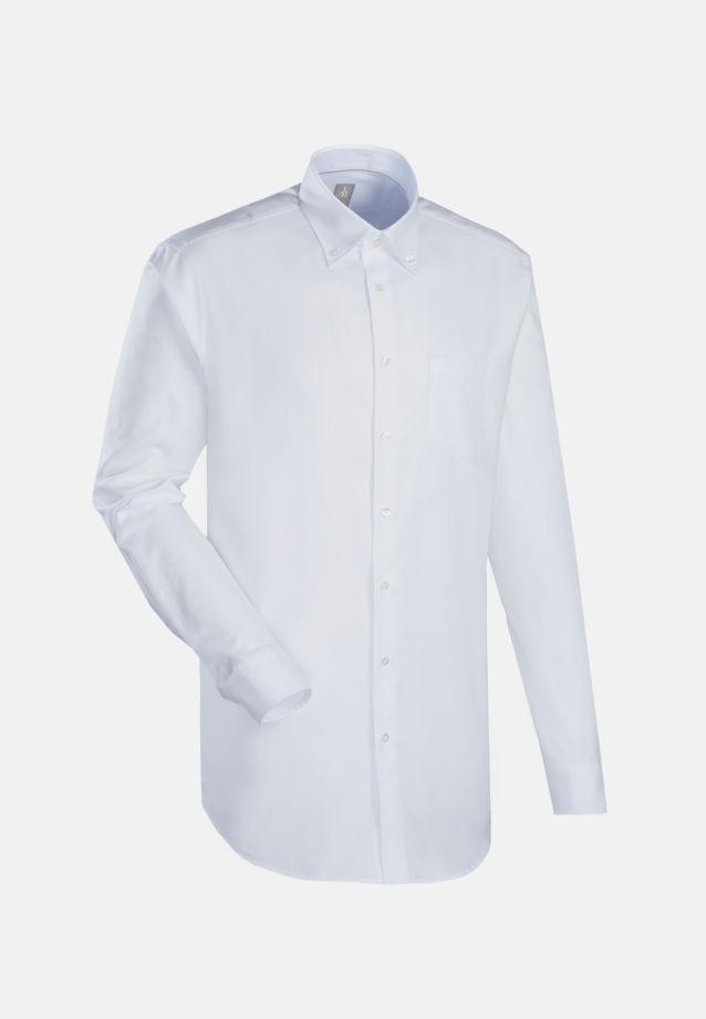 Oxford Business Hemd in Slim Fit mit Button-Down-Kragen in Weiß |  Jacques Britt Onlineshop