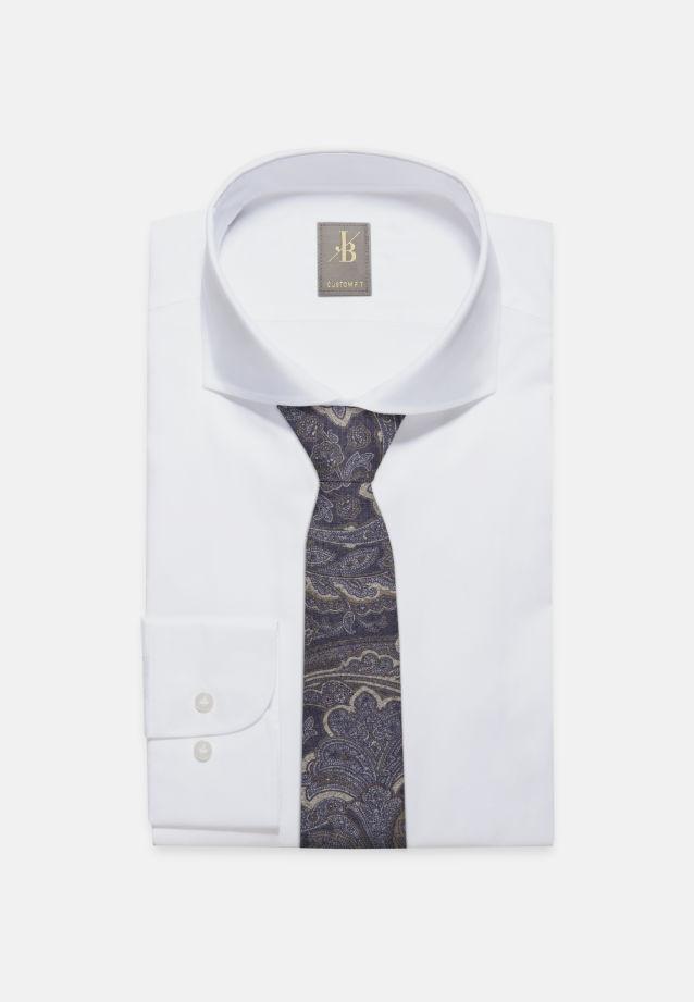 Krawatte aus Seidenmischung 7 cm Breit in Dunkelblau |  Jacques Britt Onlineshop