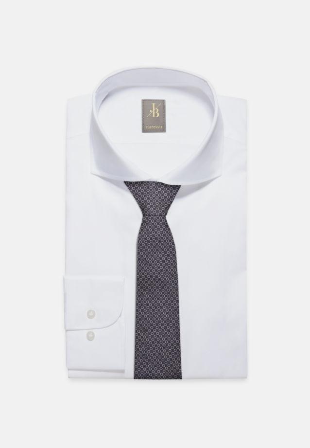 Krawatte aus 75% Seide 25% Baumwolle 7 cm Breit in Dunkelblau |  Jacques Britt Onlineshop