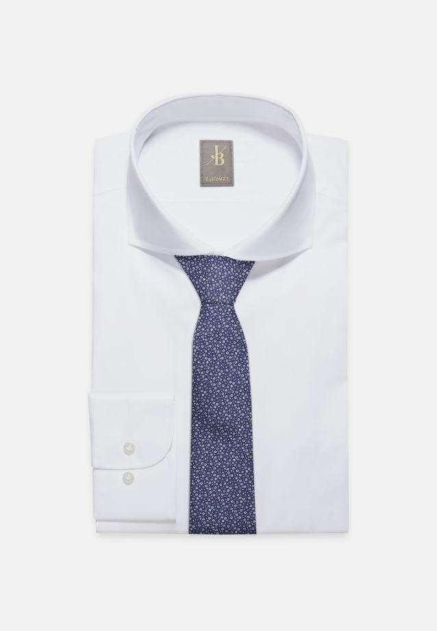 Krawatte aus 100% Seide 7 cm Breit in Mittelblau |  Jacques Britt Onlineshop