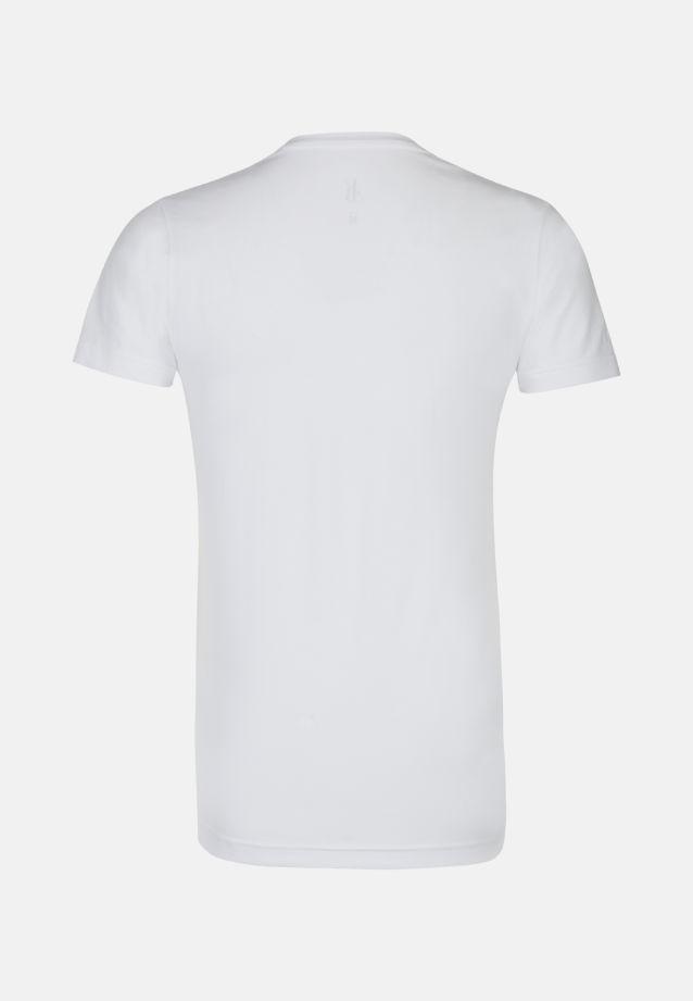 V-Neck T-Shirt aus Baumwollmischung in Weiß |  Jacques Britt Onlineshop