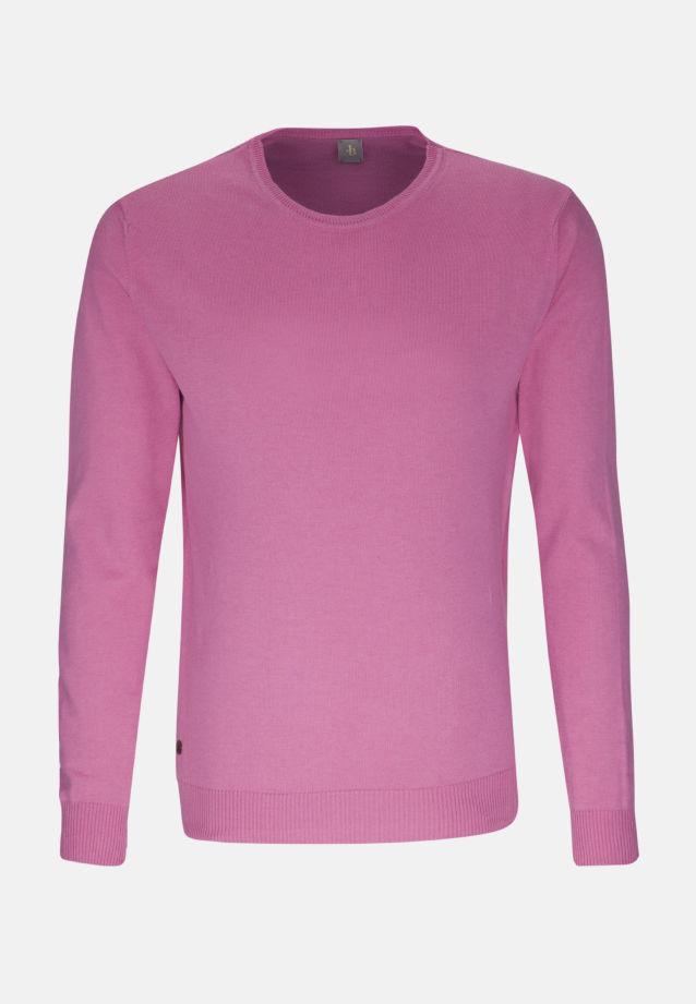 Rundhals Pullover aus 90% Baumwolle 10% Kaschmir in Rosa/Pink |  Jacques Britt Onlineshop