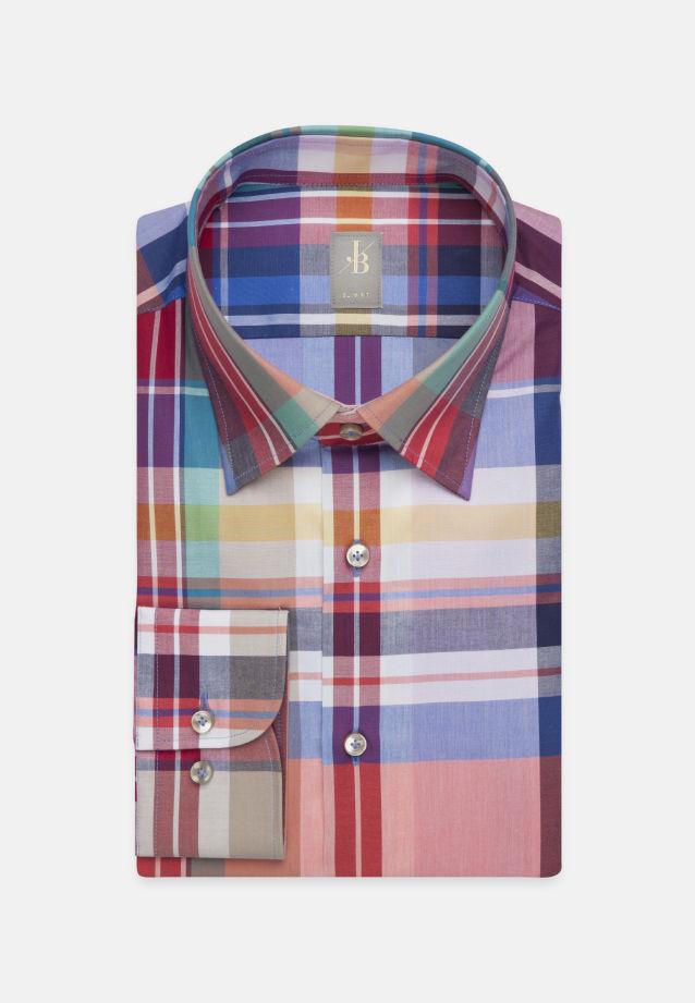 Popeline Business Hemd in Slim Fit mit Under-Button-Down-Kragen in Rosa/Pink    Jacques Britt Onlineshop