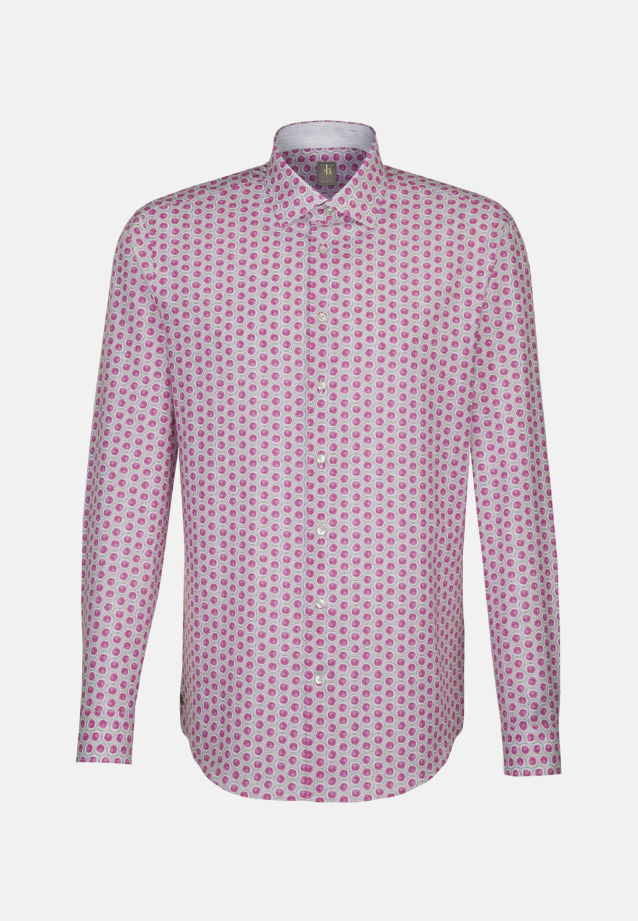 Popeline Smart Casual Hemd in Slim Fit mit Kentkragen in Rosa/Pink |  Jacques Britt Onlineshop