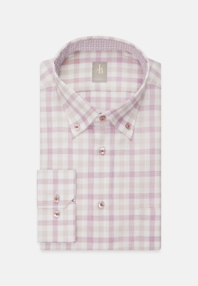 Oxford Business Hemd in Custom Fit mit Button-Down-Kragen in Rot |  Jacques Britt Onlineshop