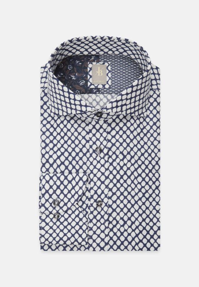 Popeline Business Hemd in Custom Fit mit Haifischkragen in Mittelblau    Jacques Britt Onlineshop