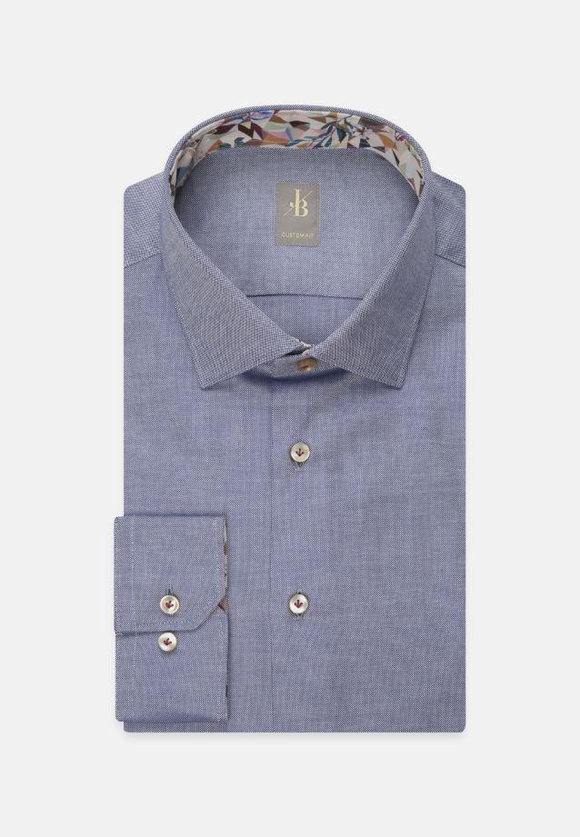 Oxford Business Hemd in Custom Fit mit Kentkragen in Mittelblau |  Jacques Britt Onlineshop