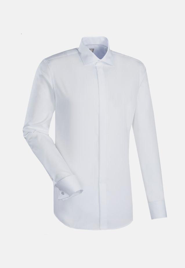 Popeline Smokinghemd in Slim Fit mit Kentkragen in Weiß    Jacques Britt Onlineshop