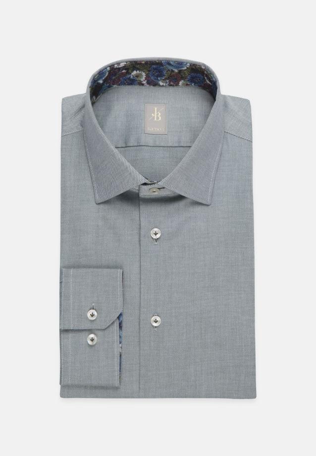 Twill Business Hemd in Custom Fit mit Kentkragen in Grün    Jacques Britt Onlineshop