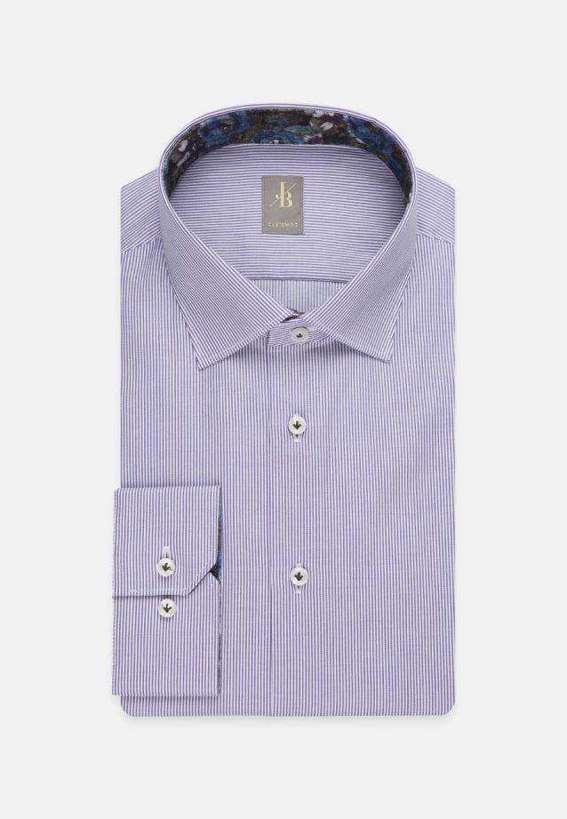 Twill Business Hemd in Custom Fit mit Kentkragen in Lila |  Jacques Britt Onlineshop