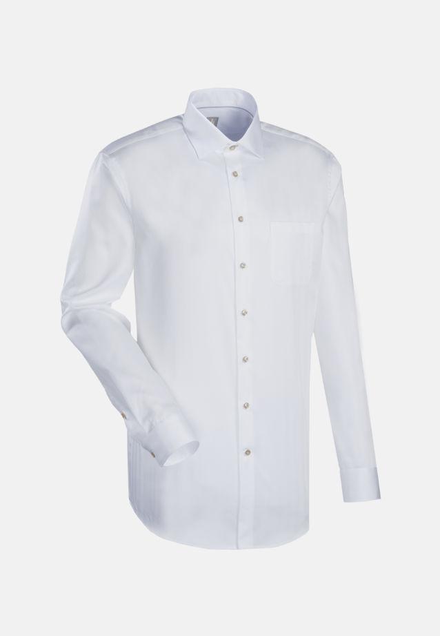 Fischgrat Business Hemd in Slim Fit mit Kentkragen in Weiß    Jacques Britt Onlineshop