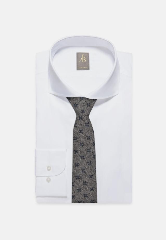 Krawatte aus 75% Seide 25% Baumwolle 7 cm Breit in Grau |  Jacques Britt Onlineshop