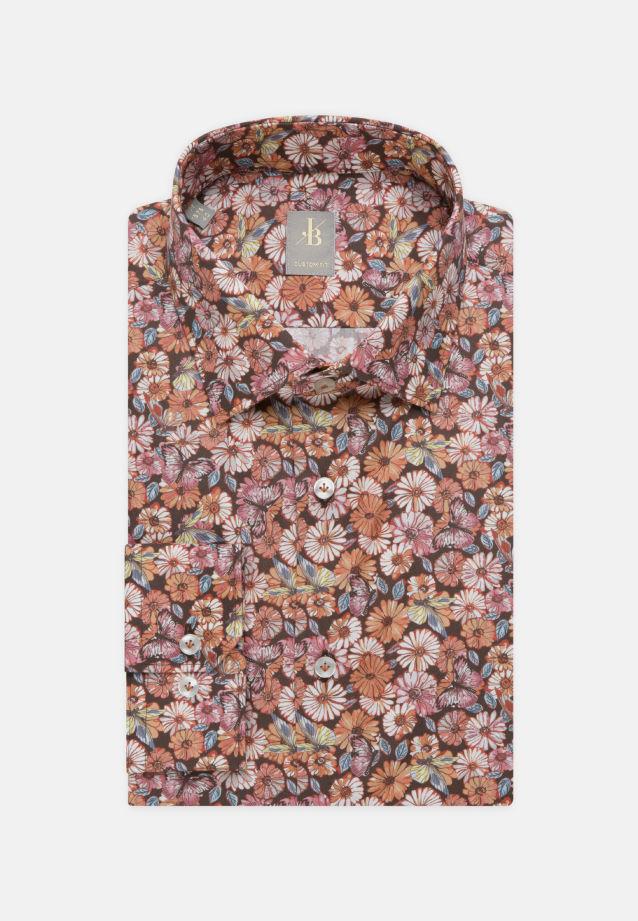Popeline Business Hemd in Custom Fit mit Kentkragen in Rot |  Jacques Britt Onlineshop