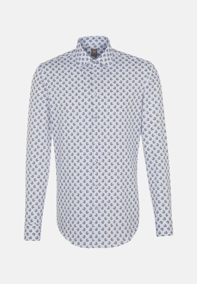 Dobby Business Hemd in Custom Fit mit Kentkragen in Dunkelblau |  Jacques Britt Onlineshop
