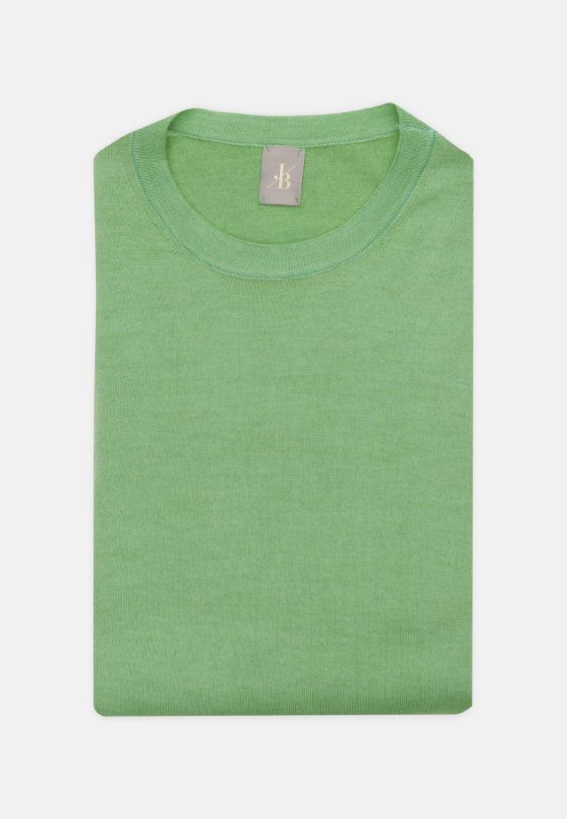 Rundhals Pullover aus 100% Merino-Wolle in Grün |  Jacques Britt Onlineshop