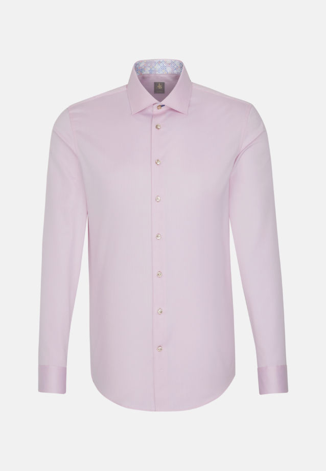 Twill Business Hemd in Slim Fit mit Kentkragen in Rosa/Pink |  Jacques Britt Onlineshop
