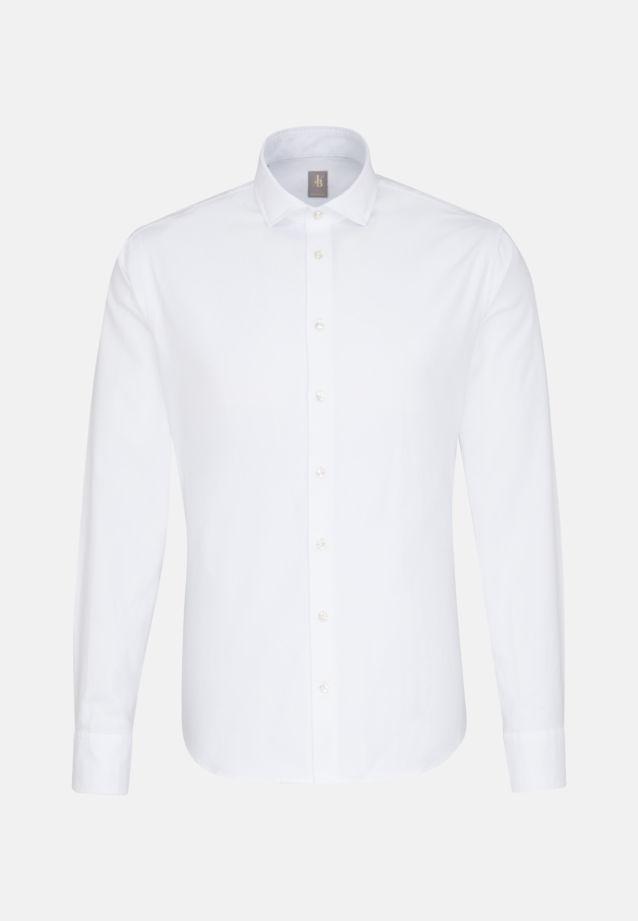 Oxford Smart Casual Hemd in Perfect Fit mit Haifischkragen in Weiß    Jacques Britt Onlineshop