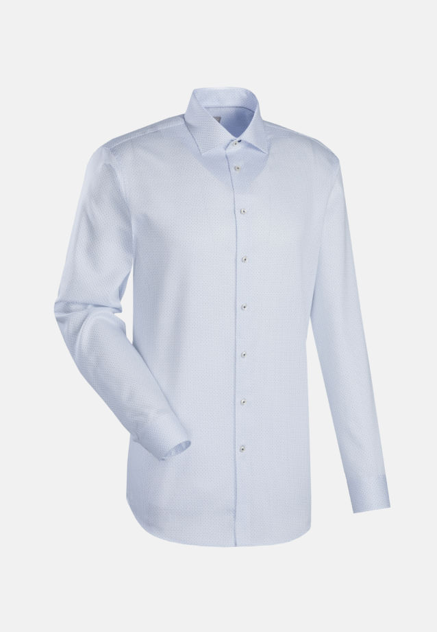 Struktur Business Hemd in Custom Fit mit Kentkragen in Weiß    Jacques Britt Onlineshop
