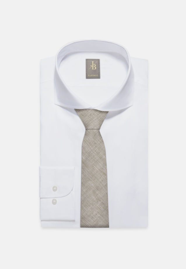Krawatte aus 100% Leinen 7 cm Breit in Grün |  Jacques Britt Onlineshop