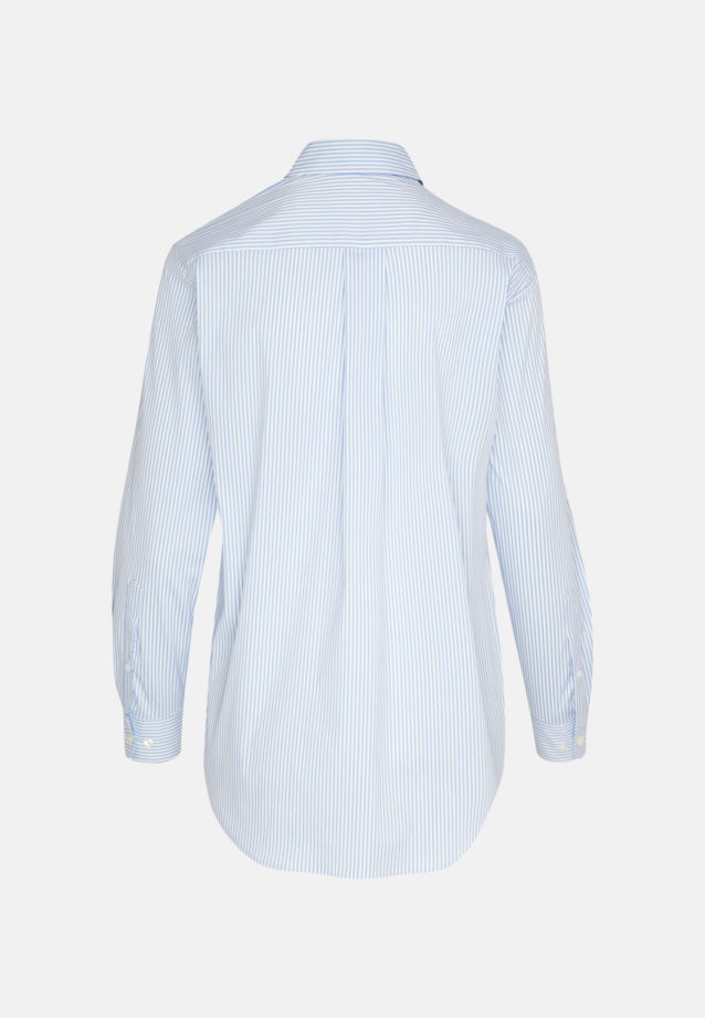 Popeline Hemdbluse aus 81% Baumwolle 16% Polyamid/Nylon 3% Elastan in weiß-bleu    Seidensticker Onlineshop