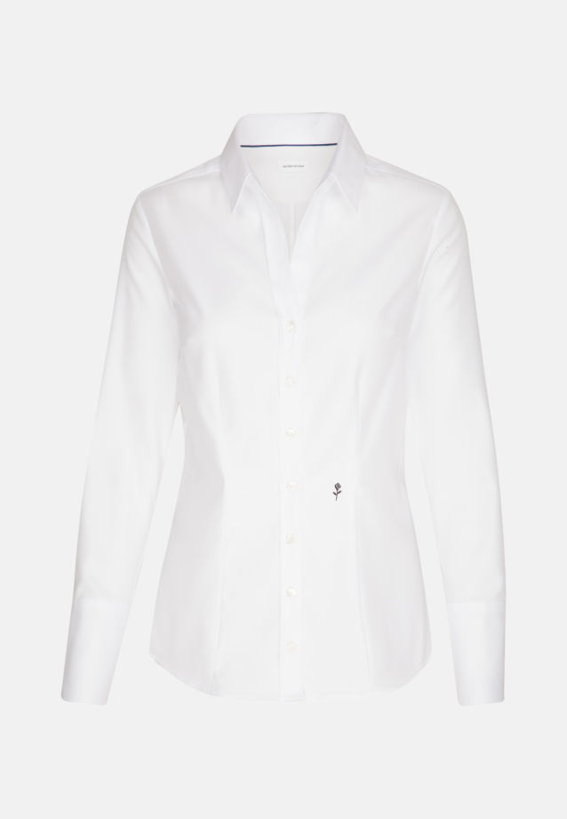 Twill Shirt Blouse made of 100% Cotton in Ecru |  Seidensticker Onlineshop