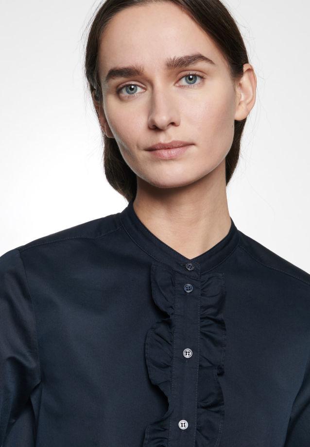 Twill Stand-Up Blouse made of 100% Cotton in Dark blue |  Seidensticker Onlineshop
