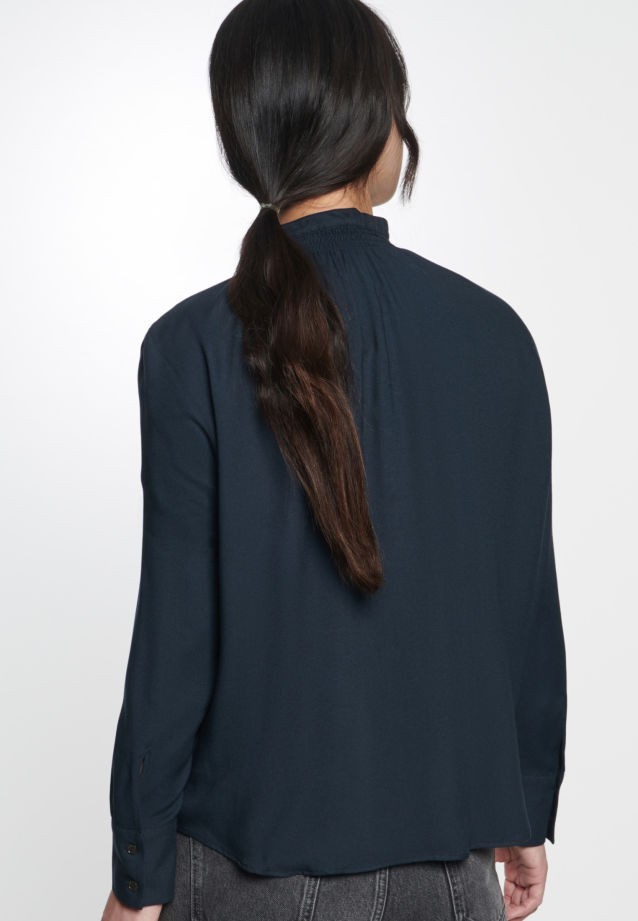 Twill Stand-Up Blouse made of 100% Viscose in Black |  Seidensticker Onlineshop