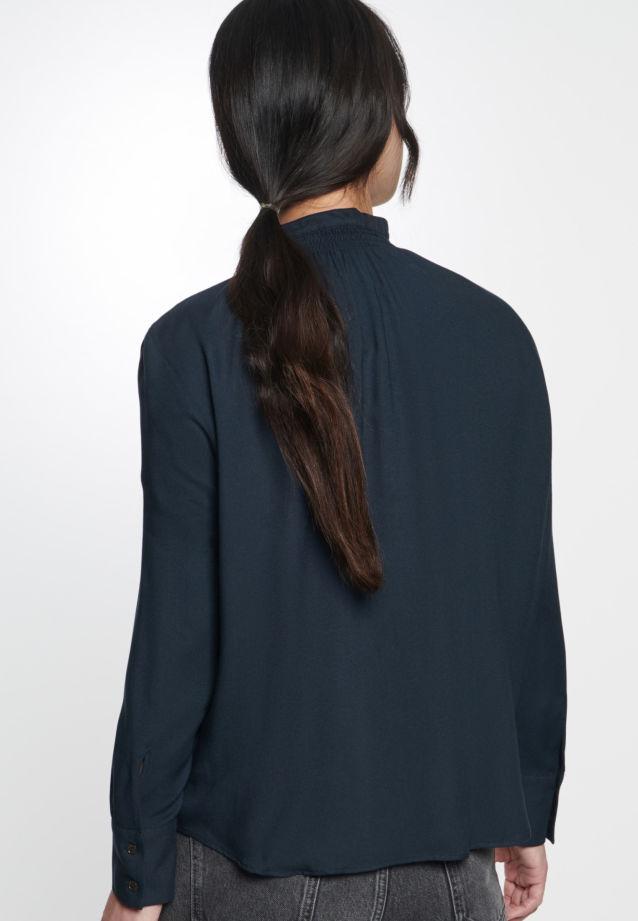 Twill Stand-Up Blouse made of 100% Viskose in Black |  Seidensticker Onlineshop