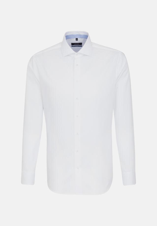 Bügelfreies Twill Business Hemd in Tailored mit Kentkragen und extra langem Arm in weiß |  Seidensticker Onlineshop