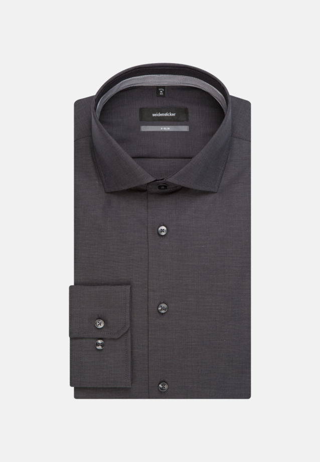 Non-iron Fil a fil Business Shirt in X-Slim with Kent-Collar in Grey |  Seidensticker Onlineshop