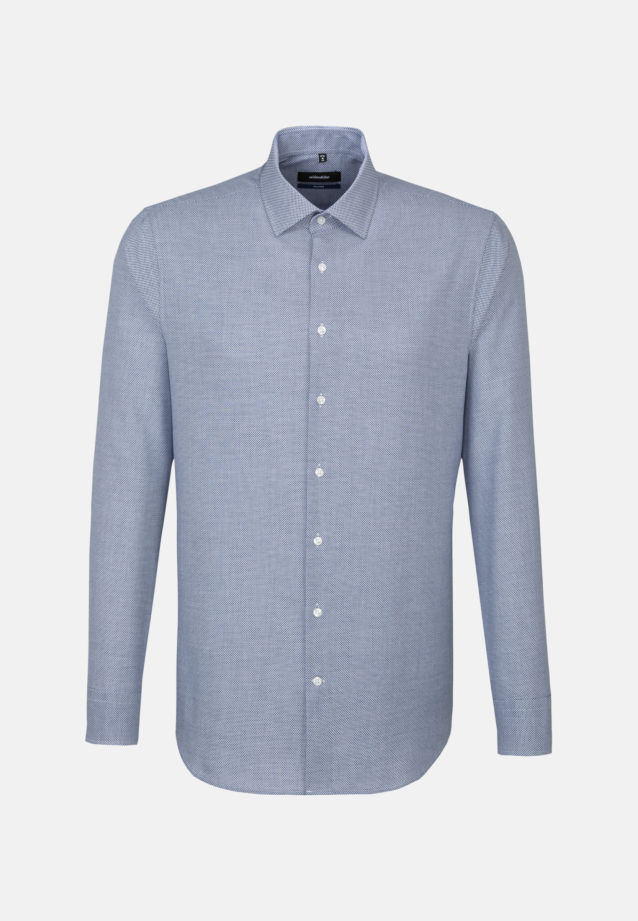 Easy-iron Structure Business Shirt in Tailored with Kent-Collar in dunkelblau |  Seidensticker Onlineshop