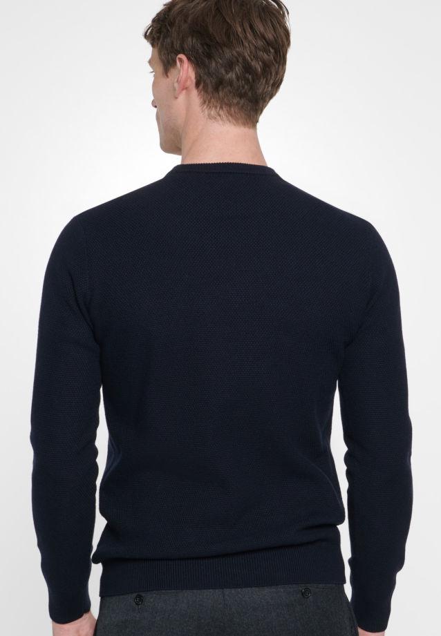Crew Neck Pullover made of 47% Cotton 37% Polyacryl 16% Wolle in navy    Seidensticker Onlineshop