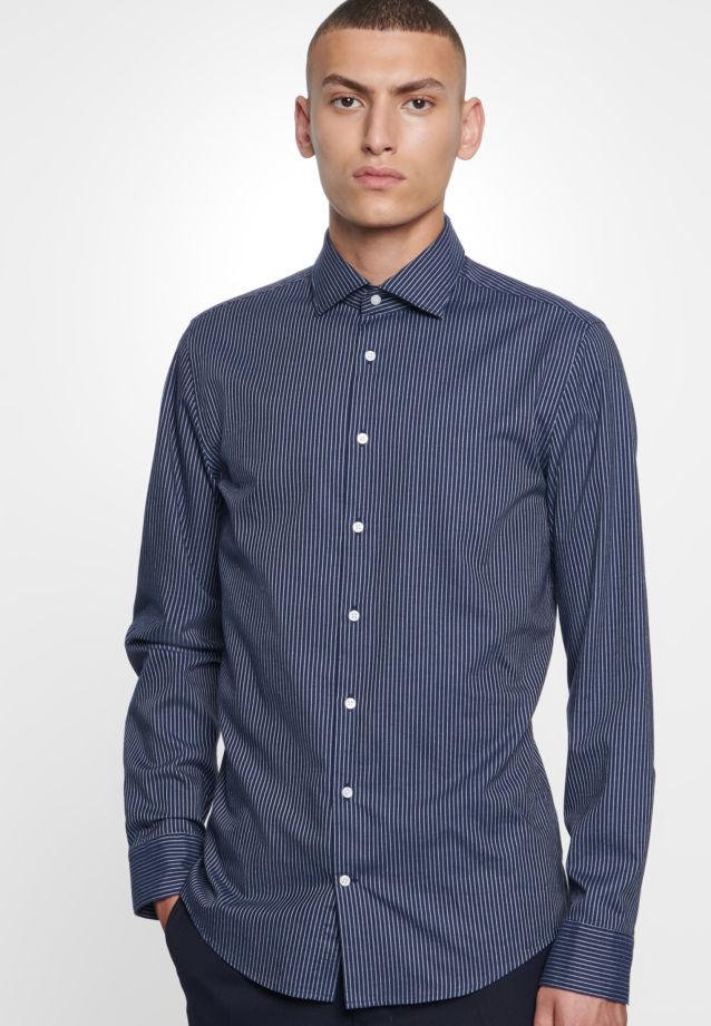 Bügelleichtes Twill Business Hemd in Slim mit Kentkragen in blau |  Seidensticker Onlineshop