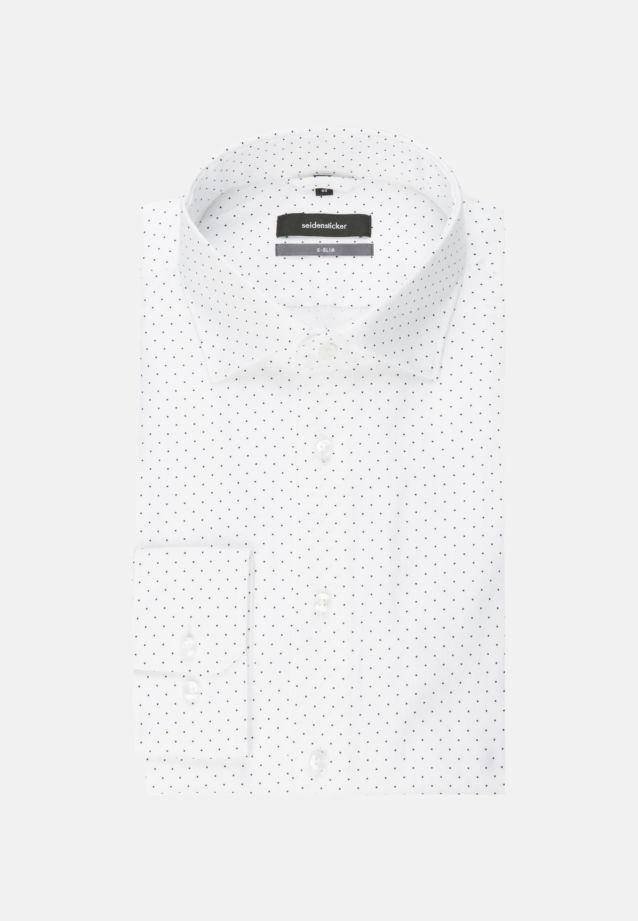 Bügelleichtes Popeline Business Hemd in X-Slim mit Kentkragen und extra langem Arm in dunkelblau |  Seidensticker Onlineshop