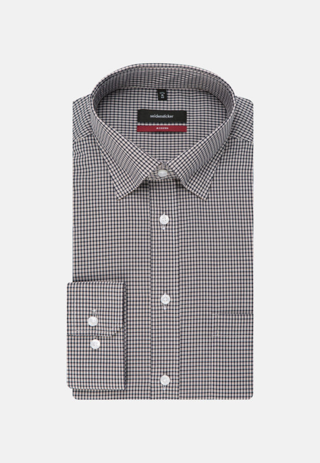 Non-iron Poplin Business Shirt in Regular with Covered-Button-Down-Collar in Orange |  Seidensticker Onlineshop