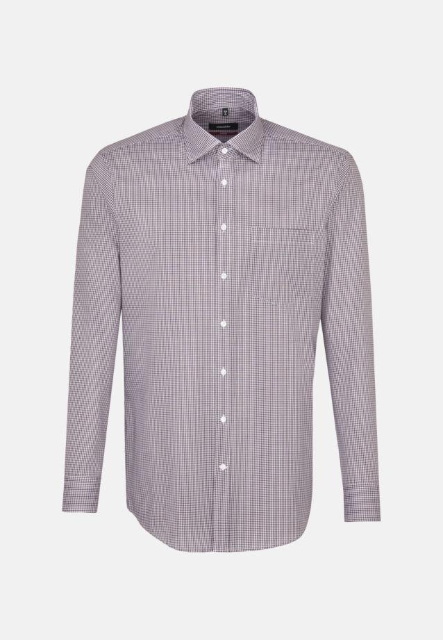 Bügelfreies Popeline Business Hemd in Modern mit Covered-Button-Down-Kragen in rot |  Seidensticker Onlineshop