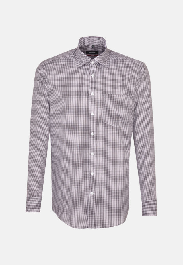 Non-iron Poplin Business Shirt in Regular with Covered-Button-Down-Collar in Red |  Seidensticker Onlineshop