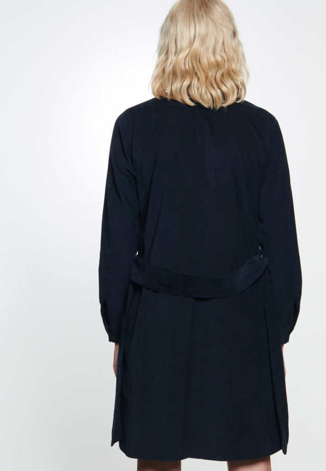 Corduroy Midi Dress made of 100% Cotton in Dark blue |  Seidensticker Onlineshop