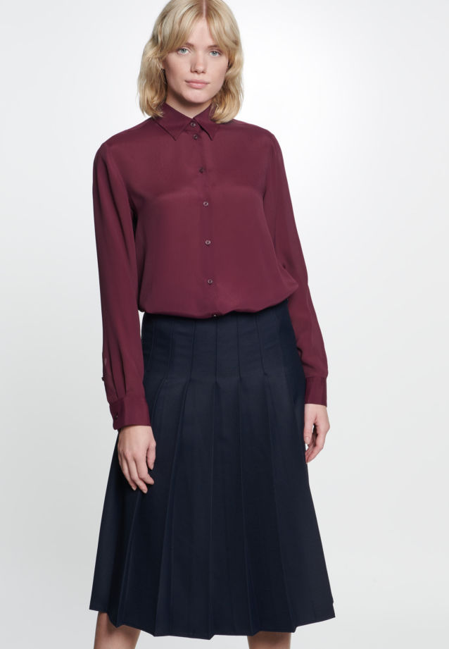 Twill Midi Skirt made of viscose blend in Dark blue |  Seidensticker Onlineshop