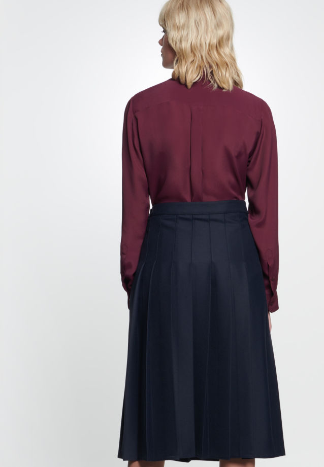 Twill Skirt made of 69% Polyester 30% Viskose 1% Elastane in dunkelblau |  Seidensticker Onlineshop
