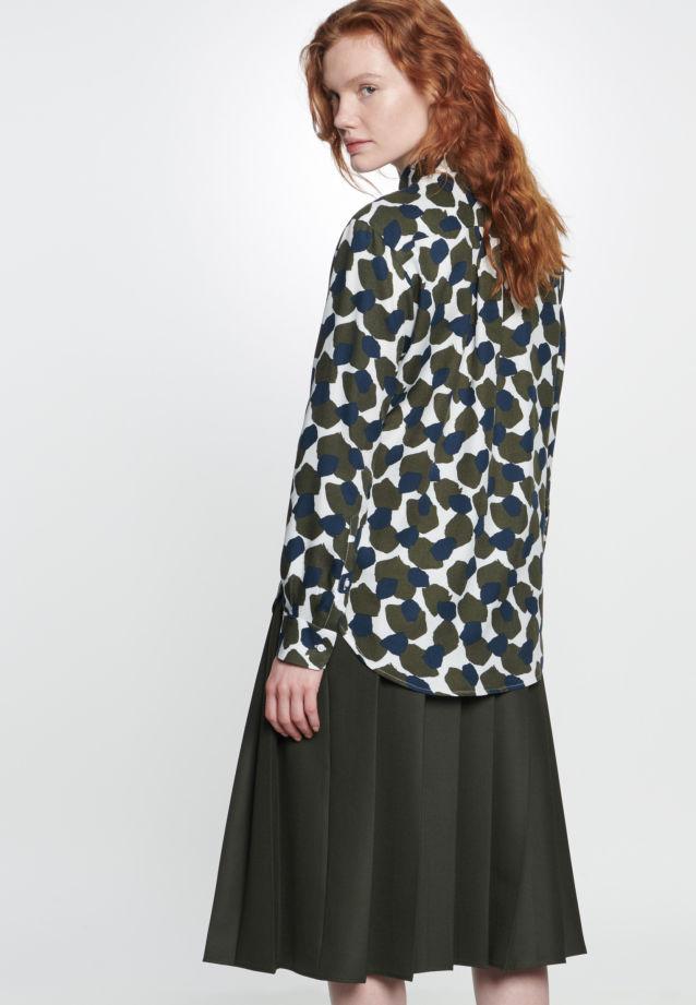 Twill Skirt made of 69% Polyester 30% Viskose 1% Elastane in grün |  Seidensticker Onlineshop
