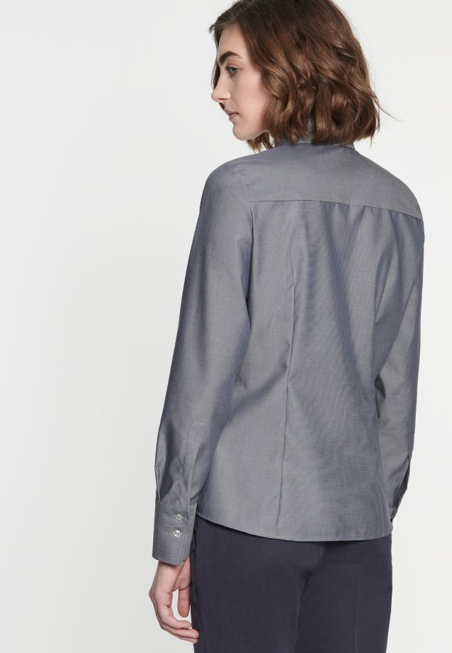 Non-iron Fil a fil Shirt Blouse made of 100% Cotton in grau |  Seidensticker Onlineshop