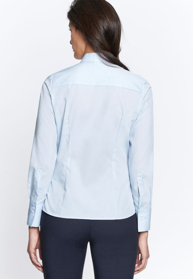 Non-iron Fil a fil Shirt Blouse made of 100% Cotton in Light blue |  Seidensticker Onlineshop