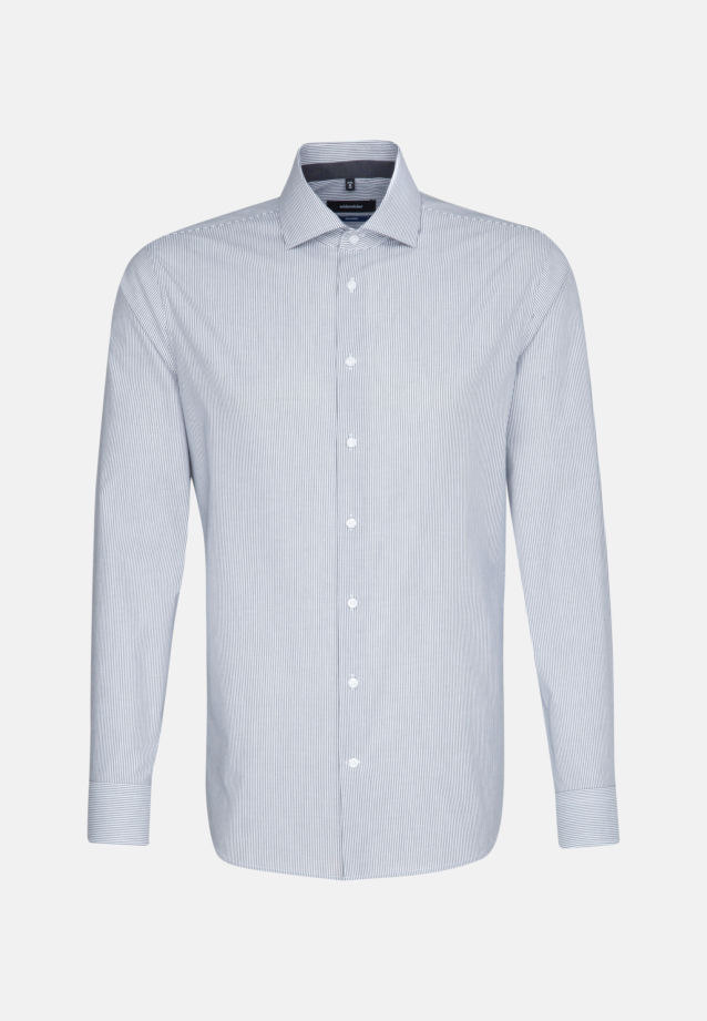 Non-iron Poplin Business Shirt in Shaped with Kent-Collar in Grey |  Seidensticker Onlineshop