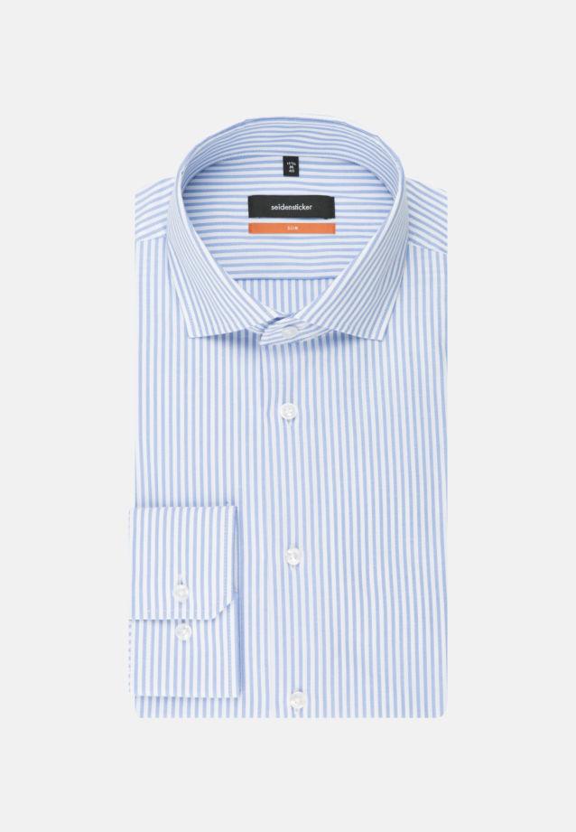 Easy-iron Twill Business Shirt in Slim with Kent-Collar in blau    Seidensticker Onlineshop