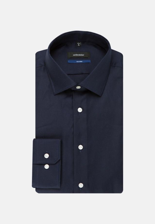 Easy-iron Oxford Business Shirt in Tailored with Kent-Collar in Dark blue    Seidensticker Onlineshop