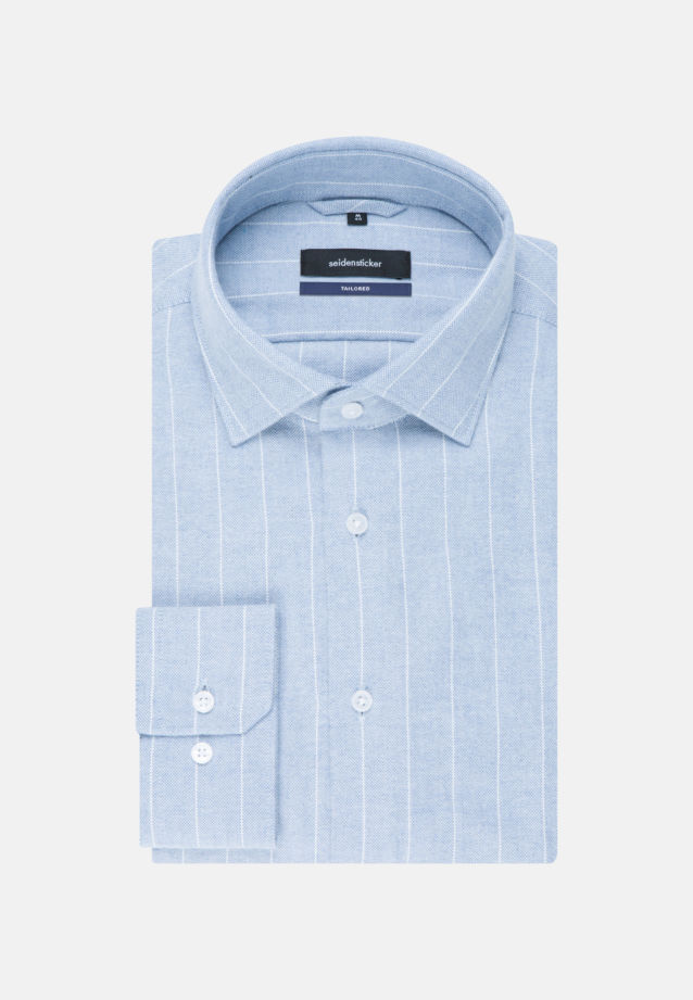 Easy-iron Oxford Business Shirt in Tailored with Kent-Collar in Light blue |  Seidensticker Onlineshop