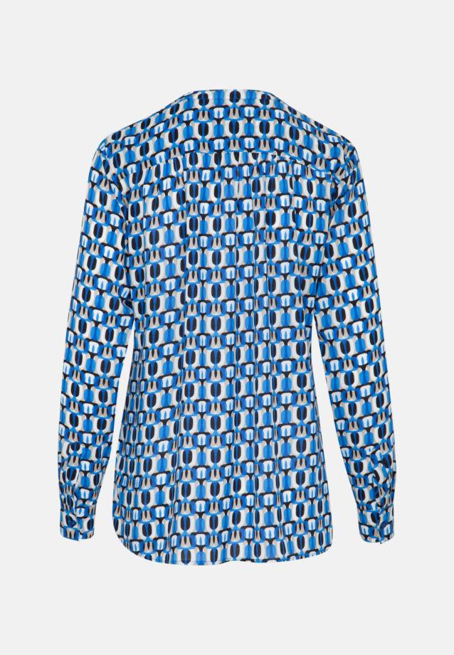 Poplin Slip Over Blouse made of 100% Viscose in Medium blue |  Seidensticker Onlineshop